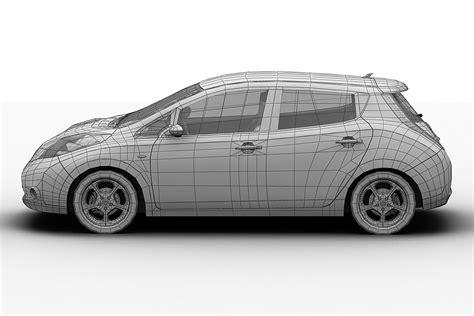 Model Maxy 2011 nissan leaf 3d model max obj 3ds fbx c4d lwo lw lws