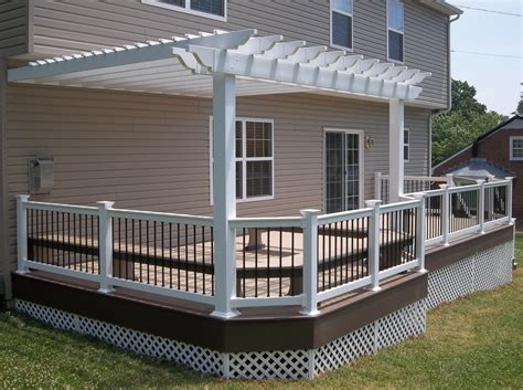 deck arbor decks with pergolas deck construction decks r us