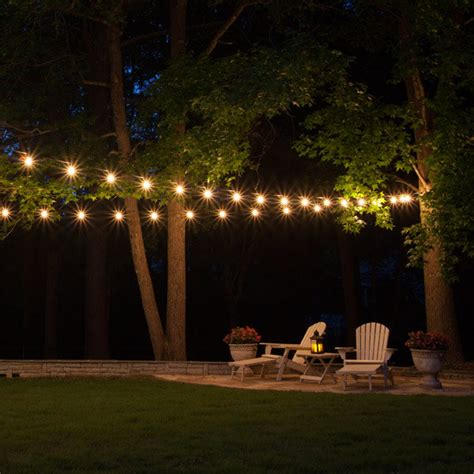 backyard light strings patio string lights yard envy