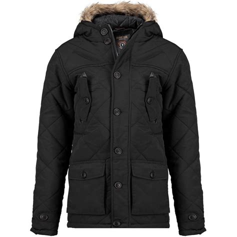 Boys Quilted Coat by Boys Black Quilted Hooded Parka Coat