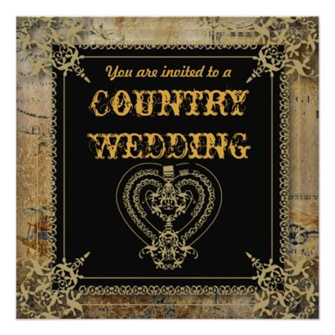country elegance wedding invitations country wedding invitations zazzle