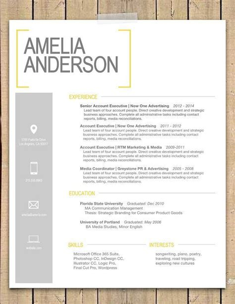 super cute resume design yellow bracket resume cover