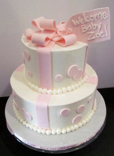 one tier baby shower cake two tier white baby shower cake with pink bow and