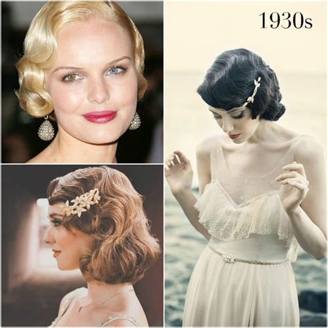 Vintage Updo Hairstyles Pinterest Images Of 1930 S Hair Styles 1930s Vintage Wedding