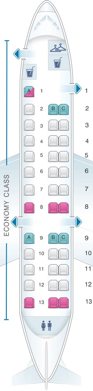 embraer erj 175 seat map embraer rj135 seating chart