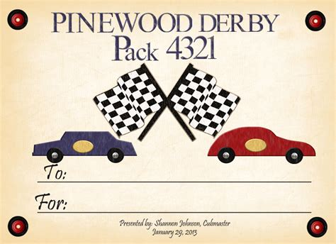 pinewood derby certificate templates 4 growing boys january 2013
