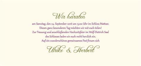 Hochzeitseinladung Mustertext by Hochzeitseinladung Eine Bl 252 Ht