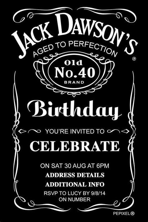Jack Daniels Birthday Digital Printable Invitation
