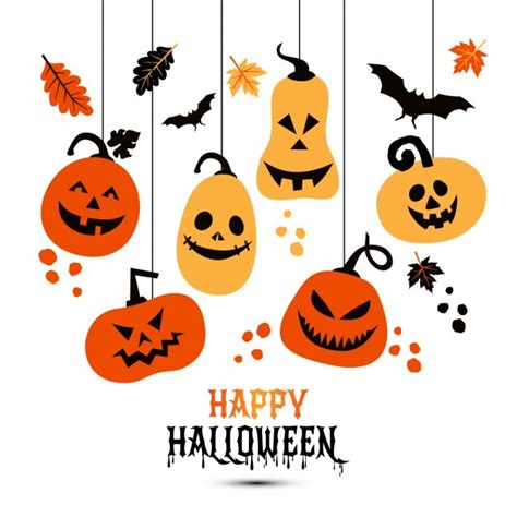 imagenes de halloween en uñas calabazas colgantes para halloween descargar vectores gratis