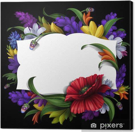 cornici per quadro quadro su tela fiori rurali cornice con biglietto di