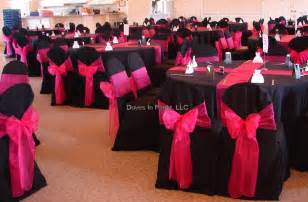 pink and black wedding decor ideas for black pink and bling wedding colors