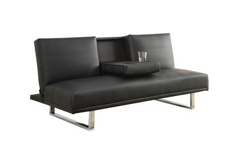 Leather Futons by Black Leather Futon 500155