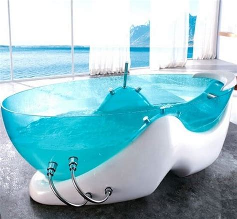 cool bathtub 8 modern clear glass bathtubs interior design design