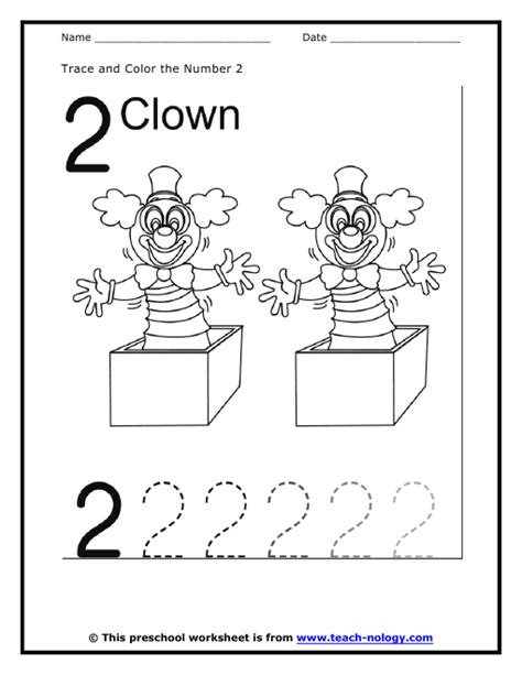 Number 2 Coloring Pages For Preschoolers by Trace The Number 2 Coloring Pages