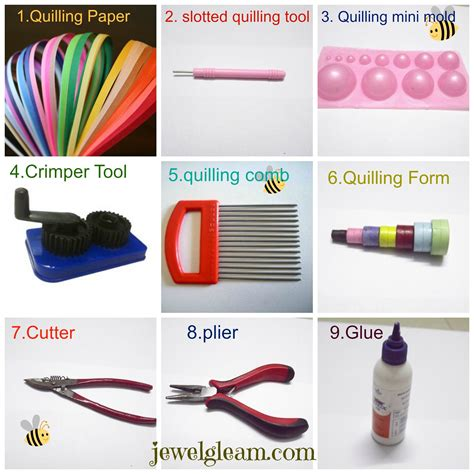 Materials For Paper - paper quilling jewellery tutorial basic tools and