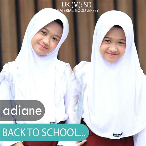 jual jilbab sekolah sd dan smp ukuran m by adiane toko