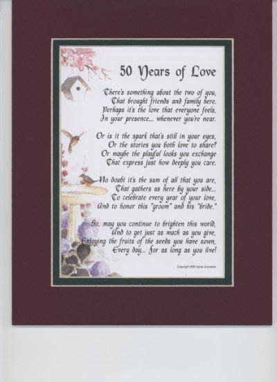 50th wedding anniversary poems the best 50th wedding anniversary gifts for parents from
