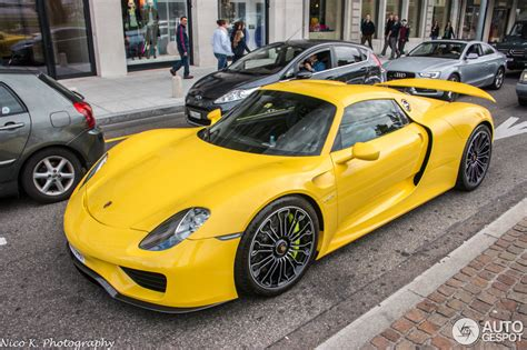 porsche spyder yellow yellow porsche 918 spyder registry