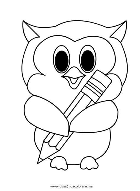 owl eyes coloring pages gufetto con matita disegni da colorare