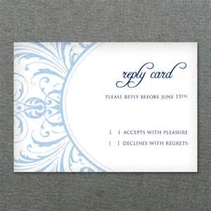 deco scroll wedding rsvp card template print