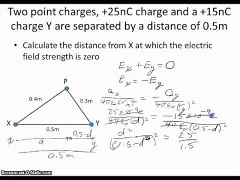 what is the electric field strength inside the capacitor if the spacing between the plates is 1 00mm calculating electric field strength with two point charges