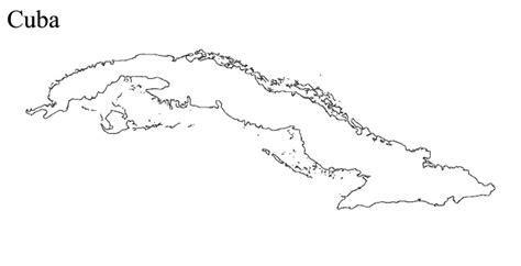 coloring page map of cuba cuba map outline