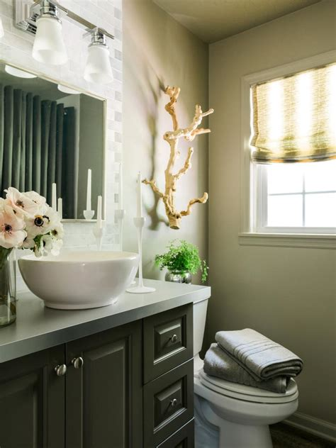 window decor powder room freshen up your powder room for holiday guests hgtv
