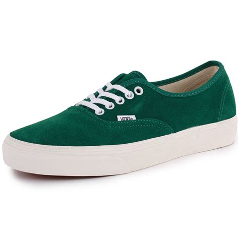 vans sneakers vans authentic vintage mens trainers suede green new shoes