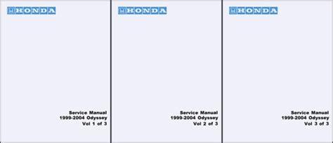 car repair manuals download 2004 honda odyssey interior lighting 1999 2004 honda odyssey repair shop manual original
