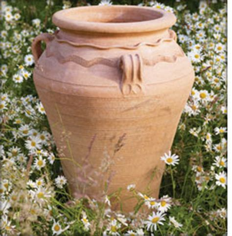 large cretan terracotta garden urn planters