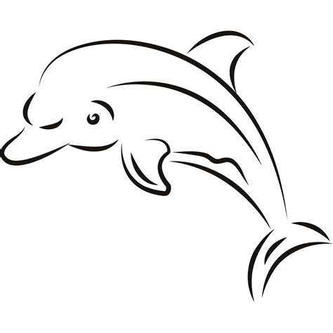 dolphin outline clipart best dolphin outline clipart best