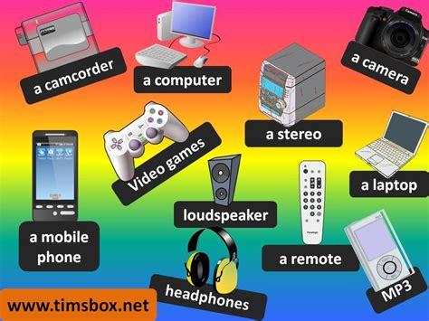 electronics vocabulary    games english