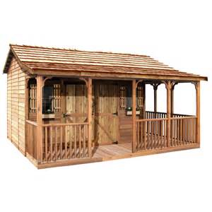 shop cedarshed common 20 ft x 14 ft interior dimensions