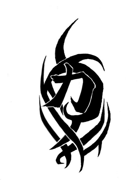tribal strength tattoos tribal strength symbol design by crazyteddy