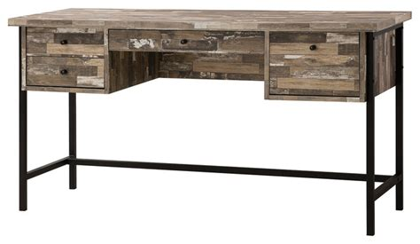 wood writing desks with drawers salvaged cabin wood writing desk with 4 drawers black