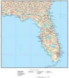 florida adobe illustrator map with counties cities