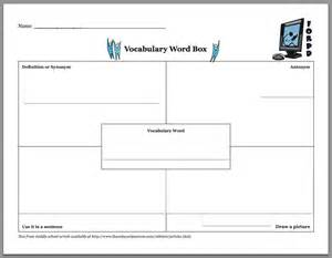 Vocabulary Chart Template by 18 Vocabulary Graphic Organizers Images Frayer Model