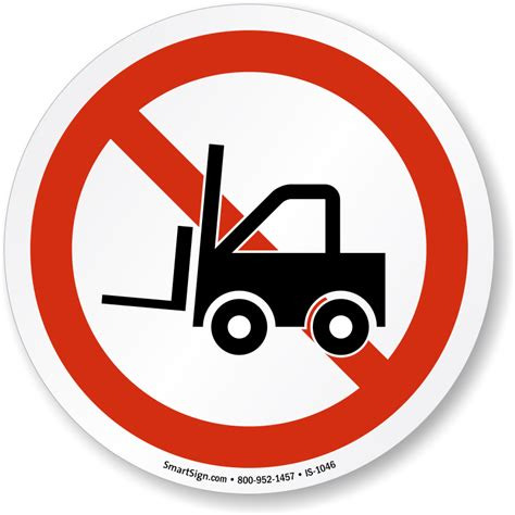 signs that a is no forklift symbol iso prohibition sign sku is 1046 mysafetysign