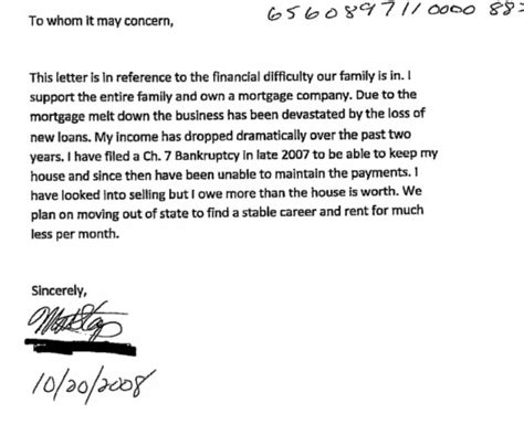 Mortgage Hardship Letter For Forbearance Some Info Regarding Sle Hardship Letter For Mortgage Modification