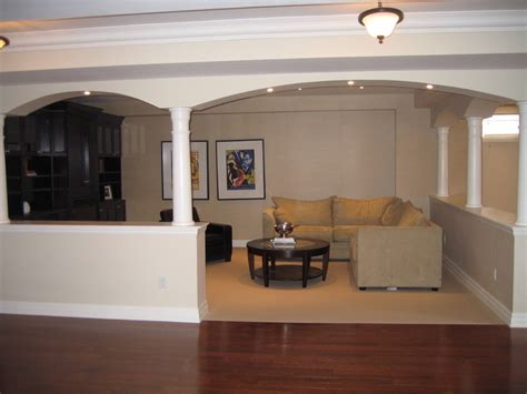 basement half walls and design columns ideas basement masters