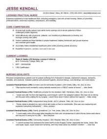 Lpn Resume Sample Example Lpn Licensed Practical Nurse Resume Free Sample