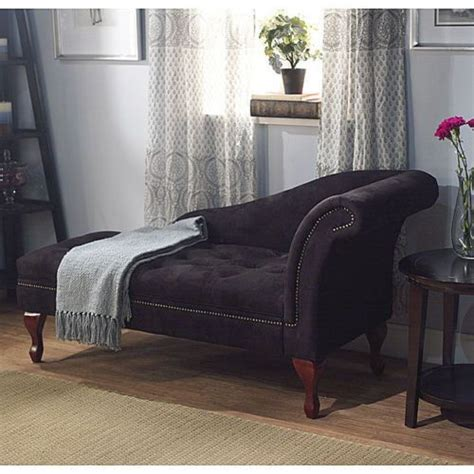 chaise lounge living room furniture black storage victorian chaise couch lounge chair office
