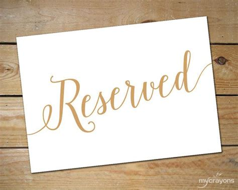 printable reserved signs best 25 reserved wedding signs ideas on pinterest