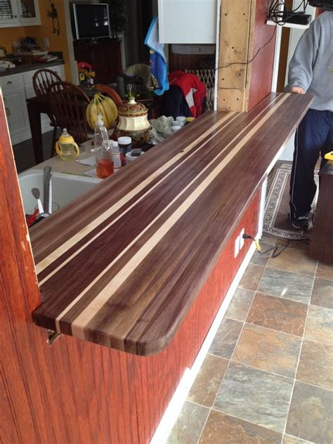 butcher block bar tops butcher block bar top by hartmanwoodworks lumberjocks