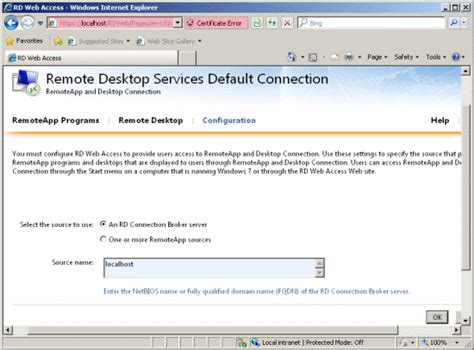 port for rdp access remote desktop web feed pointing to specific servers in