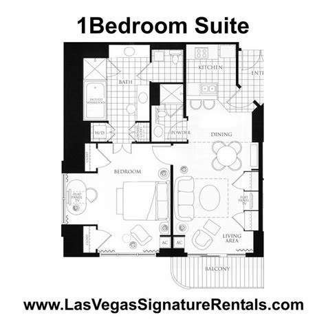 Mgm Signature One Bedroom Balcony Suite Floor Plan by 1 Bedroom Suite Floor Plan From Rental By Owner Direct At