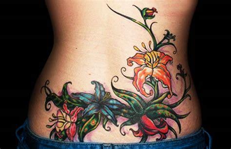 lower back flower tattoos lower back designs for