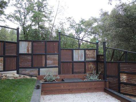 Second Hand Home Decor Online Fence Made Using Old Corrugated Metal Roofing Fences