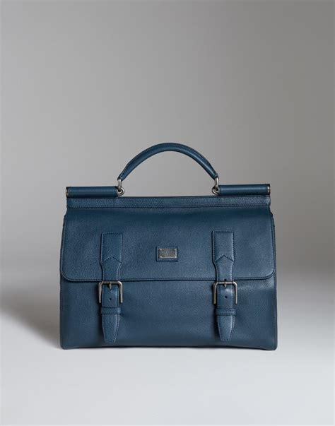 Dolce And Gabbana Travel Bag by Dolce Gabbana Sicily Travel Bag In Leather In Blue For