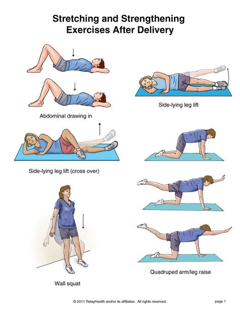 exercises with pictures and strengthening exercises